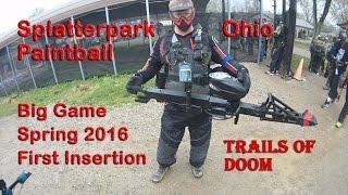 Paintball Scenario Splatterpark Ohio Big Game Spring 2016 Trails of Doom First Insertion