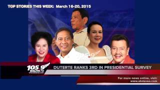 105.9 Balita FM Weekly Top Stories (March 16 to 20, 2015)
