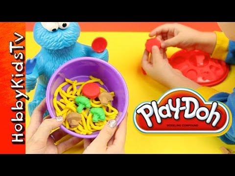 PLAY DOH Cookie Monster Eats Veggies - Learn Vegetables - Sesame Street
