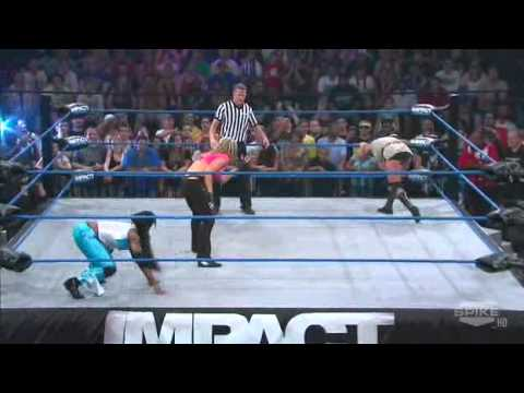 TNA Impact Wrestling - Velvet Sky Faces Jacqueline Moore and ODB In A Handicap Match