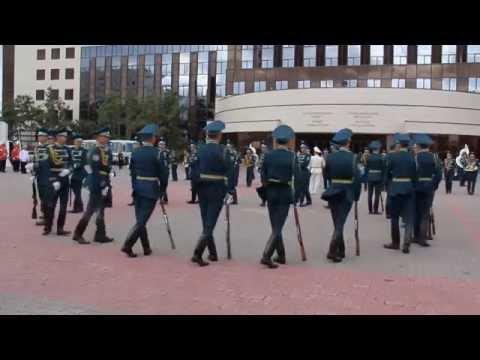 Рота почетного караула покорила астанчан своим шоу