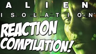 Alien: Isolation Horror Reaction Compilation! - fxgamerofficial