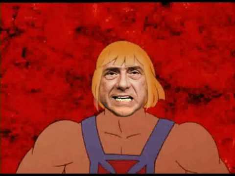 Berlusconi He-man, il nuovo eroe.