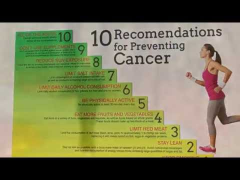 Preventing Cancer - 10 recommendations to reduce the risks