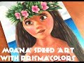 Moana Speed Art with Prismacolors!