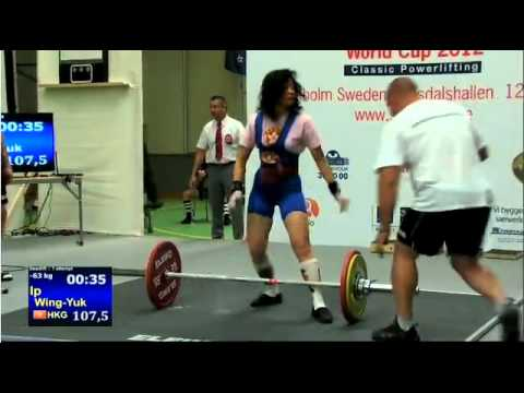 2012 World Cup Powerlifting Women's 57 & 63kg Deadlift Image 1