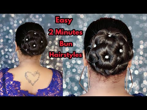 Quick and Easy Bun Hairstyles | Beautiful Flower Bun Hairstyles | Party/Wedding Hairstyles