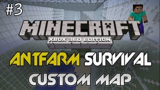 "Minecraft: Xbox 360 - ""Antfarm Survival"" Ep. 3 - Chicken In Danger! - TU8 (Custom Survival Map)"