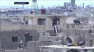 قناصة النظام يستهدفون السكان بحي القابون بدمشق