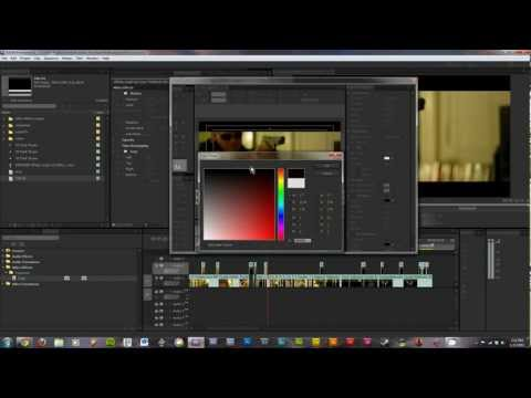 Adobe Premiere CS5.5 Cinemascope 2.39:1 Tutorial