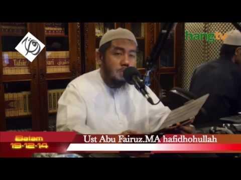 Ust Abu Fairuz.Lc.MA - Tidak Seperti Ini Wahai Sa'ad Cara Mengeluarkan Onta