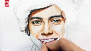 Drawing and Coloring @Harry_Styles By Juan Andres