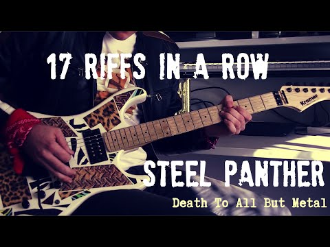 17 Riffs In A Row - 17 Steel Panther Riffs WITH TABS!!