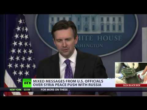 'Russia & US not in line on Syria's peace deal' - White House spox contradicts John Kerry