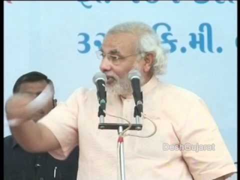 Narendra Modi in his speech attacks centre at Botad event