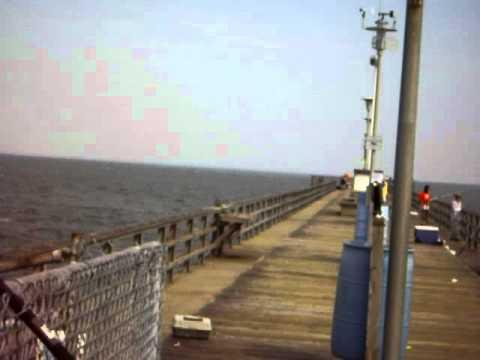 Seagull fishing pier on chesapeake bay bridge tunnel youtube for Chesapeake bay bridge fishing report