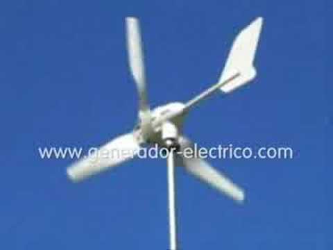 Aerogenerador Ico-GE funcionando a 2,1m/s