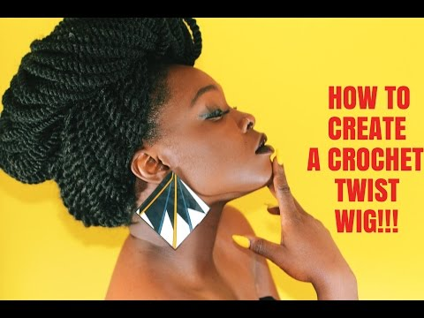 IT'S A WIG!!!!!!! HOWTO: CREATE A CROCHET TWIST WIG