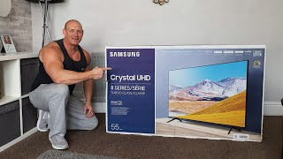"""04. NEW 2020 Samsung TU8000 55"""" TV,unboxing,setup,wall mounting,picture & audio demo"""