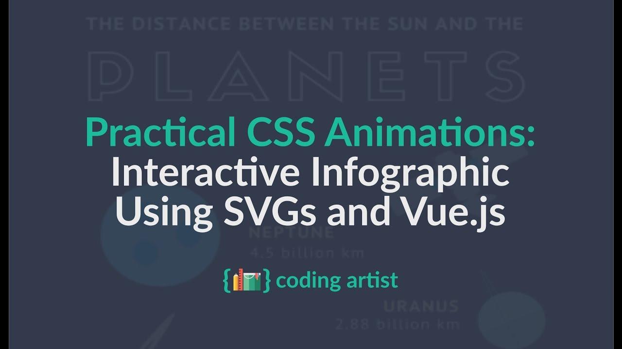 Interactive infographic animation