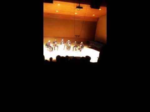 John Mackey- Strange Humors for Clarinet quartet and Djembe