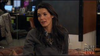 Angie Harmon Talks Lesbian Tension On