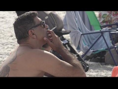 Senator proposed beach ban on smoking