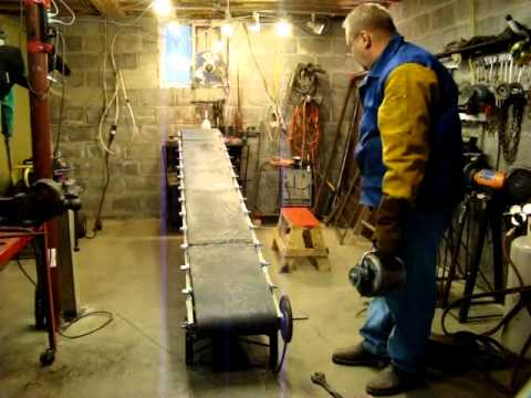Fabricating A Homemade Conveyer Belt For Coal Wood Or Top