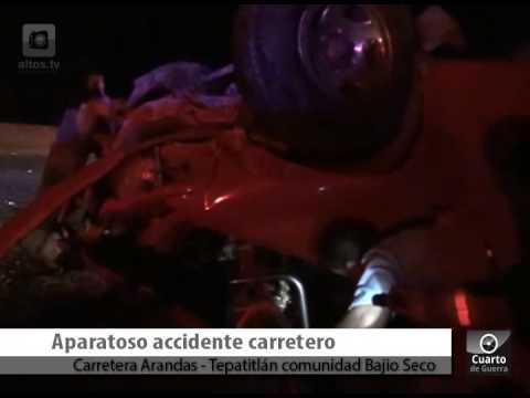 Accidente en Carretera Arandas Tepatitlán