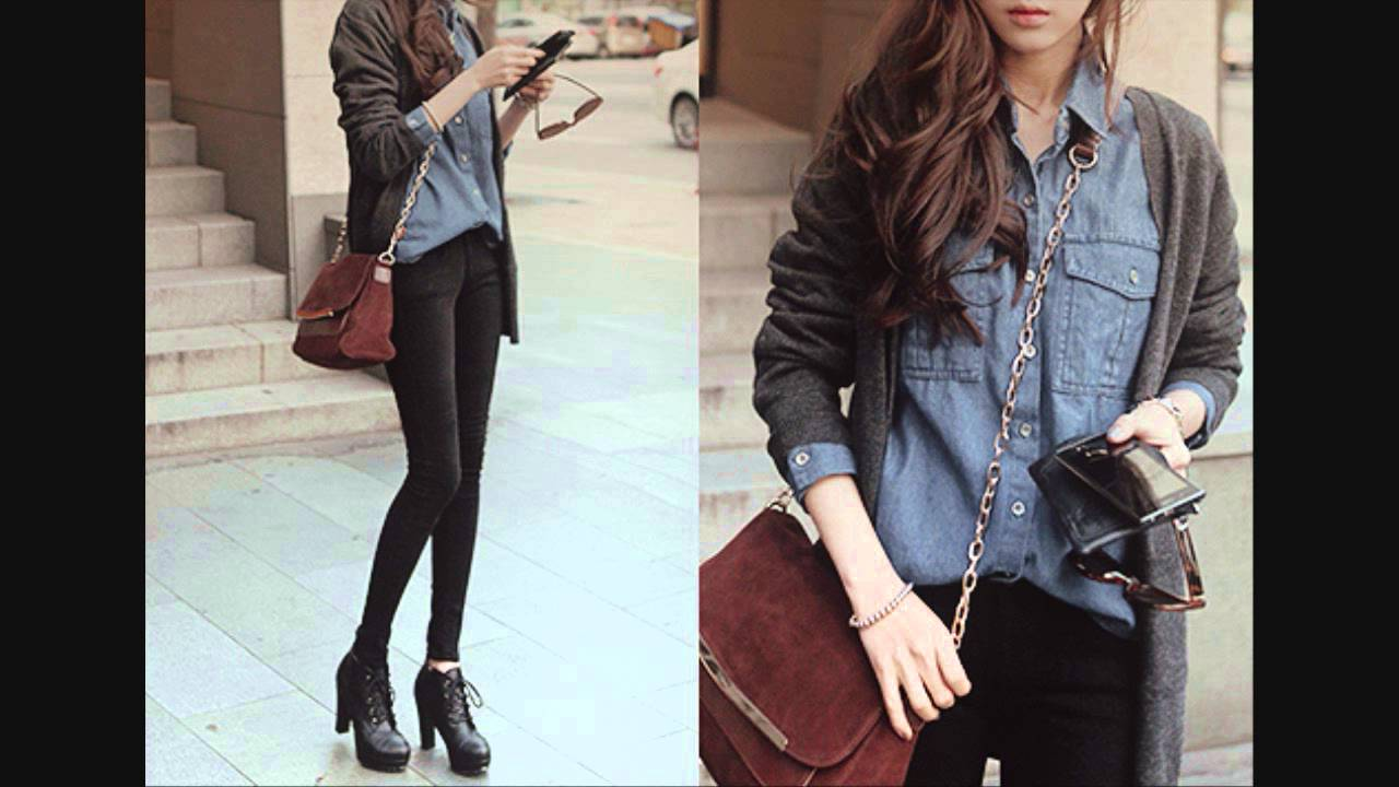 Korean Ulzzang Fashion (Fall/Winter) Inspiration - YouTube - Fashion Teenage Girls Clothes Tumblr