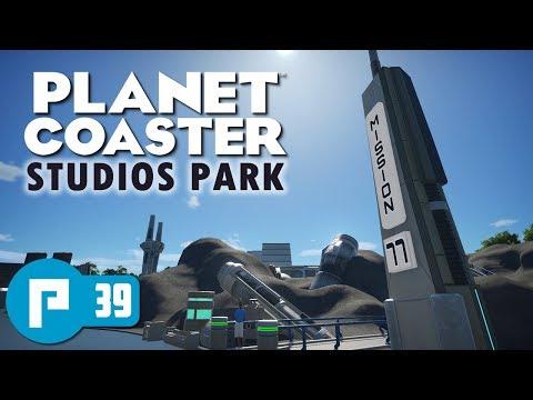 Planet Coaster Studios Pack DLC / Clapboard Studios Build Part 3: Sci-Fi area theming and shops