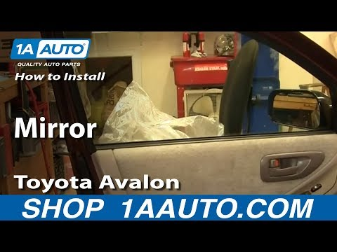 How To Install Replace Side Rear View Mirror Toyota Avalon 95-99 1AAuto.com