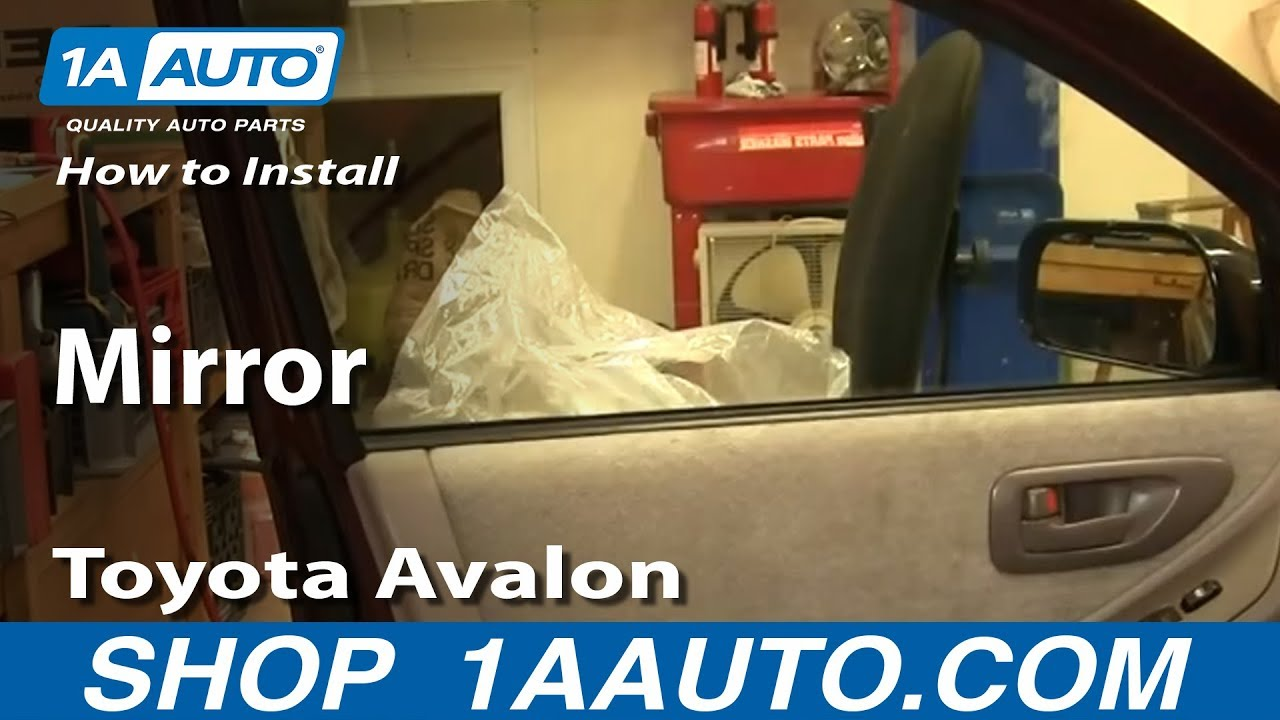 How To Install Replace Side Rear View Mirror Toyota Avalon