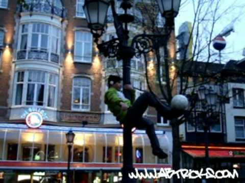 Maradona Amsterdam ABTricks on the lamp-post