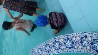 Baby xaviyar in a pool kmc club