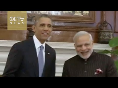 Indian PM Modi and U.S. Pres. Obama talk climate change over lunch