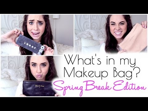 What's in my Makeup Bag? Spring Break Edition | Kacey Laine