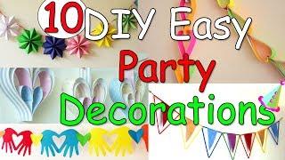 10 DIY Easy Party Decorations Ideas - Ana   DIY Crafts