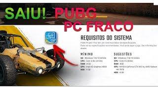 BOMBA SAIUUU PUBG PC FRACO RODA EM i3 SEM PLACA DE VIDEO