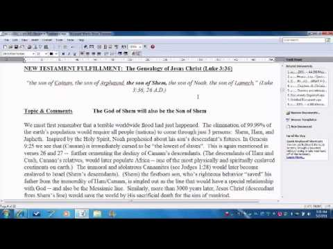 Old Testament Prophecy # 3 (Genesis 9:26-27) and New Testament Fulfillment
