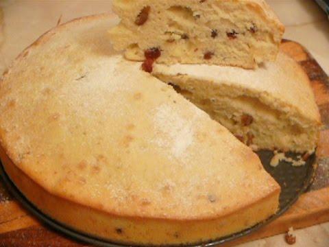 Пирог на молоке с           изюмом