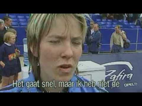 Justine Henin wins first tournament in Antwerp 1999