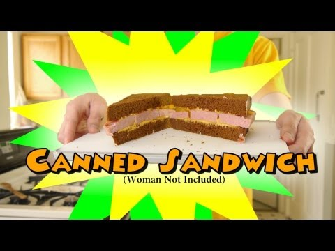 Canned Sandwich... Spam/Cheese Whiz MMMmmmm