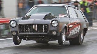 Twin Turbo V8 Chevy Vega runs 7s!