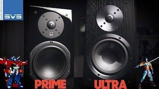 SVS Ultra vs. Prime Bookshelf   Speaker Shootout