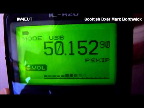 Ham Radio 50 Mhz Sporadic E Opening Received In Scotland with Indoor Antenna and Icom R20