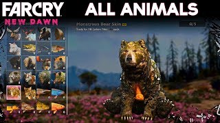 Far Cry New Dawn - ALL ANIMALS (Showcase)
