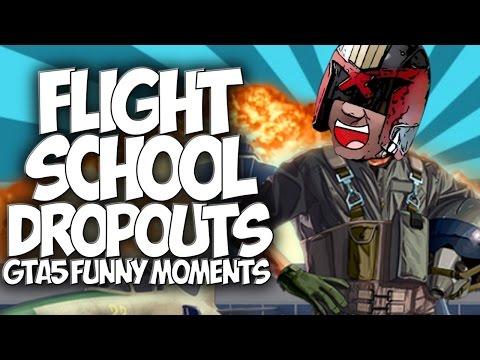 Gta 5: Flight School Dropouts!! gta5 Funny Moments Funny Flying Fails!! video
