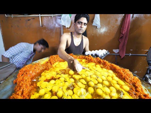 Indian Street Food in Mumbai - 400 Egg BIGGEST Scrambled Eggs  BEST Seafood in Mumbai, India!!!