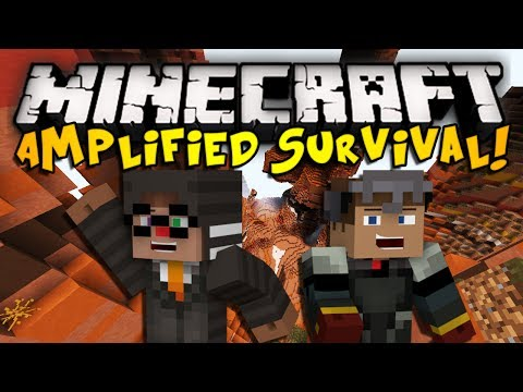 Minecraft: Amplified Hardcore Survival Ep. 1 DOWN WE GO HD